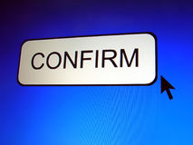Confirm Button Royalty Free Stock Photography