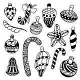Conjunto de juguetes de la Navidad Imágenes de archivo libres de regalías