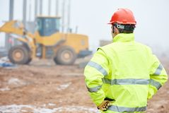 Construction building foreman worker Royalty Free Stock Photo