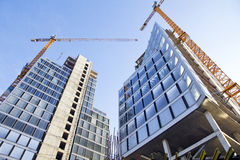 Construction of buildings Stock Photography