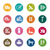 Construction Color Icons Royalty Free Stock Photos
