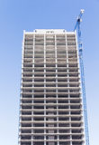 Construction of tall building Stock Image