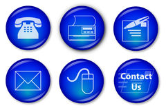 Contact Buttons (blue) Stock Photo