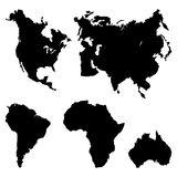 Continents Pictogram Royalty Free Stock Images
