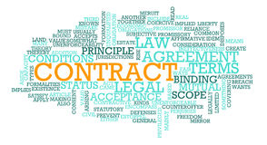 Contract Royalty Free Stock Photography