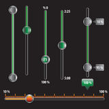 Controles técnicos do vetor Fotografia de Stock Royalty Free
