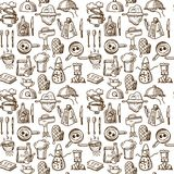 Cooking icons seamless pattern Stock Photo