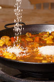 Cooking paella Royalty Free Stock Image