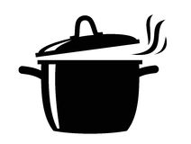 Cooking pan icon Stock Photos