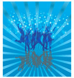 Cool dance on blue Stock Images