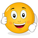 Cool Smiley Character with Thumbs Up Stock Images
