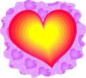Coração do amor Foto de Stock