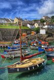 Cornish fiskeläge Arkivfoto