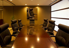 Corporate executive office conference room Royalty Free Stock Photos
