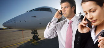 Corporate jet Royalty Free Stock Images