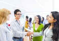 Corporate People Having a Business Agreement Royalty Free Stock Image