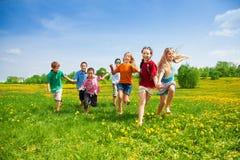 Corsa dei bambini Fotografia Stock