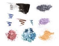 Cosmetic samples isolated on white. Stock Photos