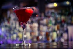 Cosmopolitan cocktail on the bar Stock Photos