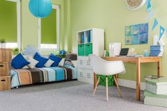 Cosy furnished functional room Royalty Free Stock Photography