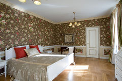 Cosy spacious bedroom Stock Image
