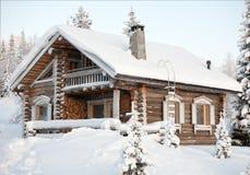 Cosy winter house Royalty Free Stock Photos