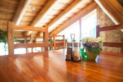 Cosy wooden restaurant Royalty Free Stock Image