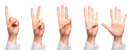 Counting to five Royalty Free Stock Photography