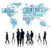 Countries Nation Society Territory International Concept Royalty Free Stock Photography