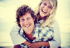 Couple Beach Bonding Getaway Romance Holiday Concept Royalty Free Stock Image