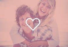 Couple Beach Bonding Getaway Romance Holiday Concept Royalty Free Stock Photos