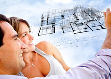 Couple with dream house Royalty Free Stock Photos