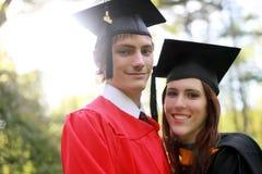 Couple at Graduation Stock Photo