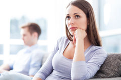 Couple having relationship problems Stock Photos