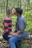 Couple Kissing Royalty Free Stock Photos