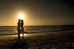Couple in a Romantic Afternoon Stock Photo
