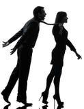 Couple woman seductress bonding concept  silhouette Royalty Free Stock Photos