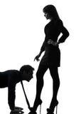 Couple woman seductress bonding concept  silhouette Royalty Free Stock Image