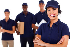 Courier service despatcher Royalty Free Stock Image
