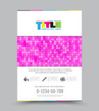 Cover design layout template in A4 size. Stock Photo