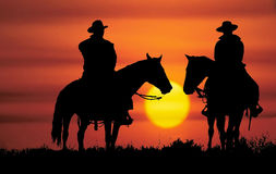 Cowboy silhouette Royalty Free Stock Photography