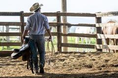 Cowboy watching Stock Image