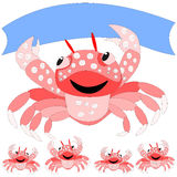 Crab with a banner Royalty Free Stock Image