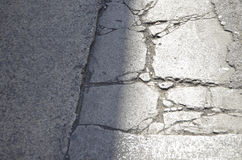Cracks in the Pavement Stock Image