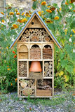 Craftsman Built Insect Hotel Decorative Wood House Royalty Free Stock Photos