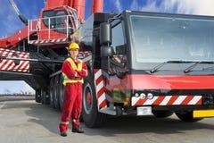 Crane driver Royalty Free Stock Photo