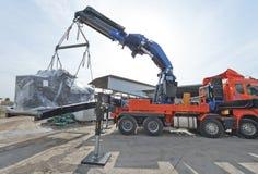 Crane Truck at Work Royalty Free Stock Image