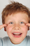 Crazy kid Royalty Free Stock Photos