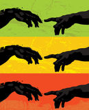 Creation of Adam-vector illust Royalty Free Stock Images