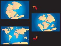 Creation of the continents Stock Images